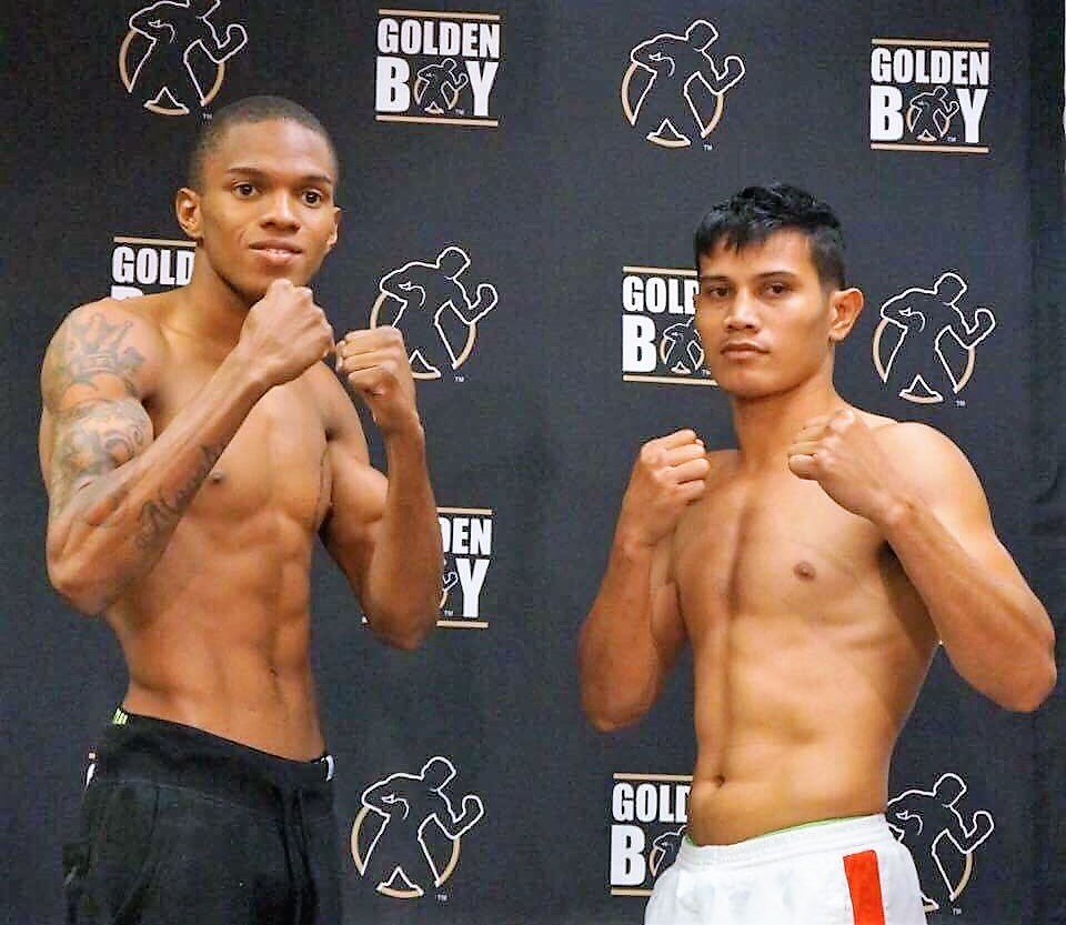 """3fb858caec Filipino Recky """"Terror"""" Dulay (right) and Arboleda during the weigh-in  (Photo by REY RODIS JR.)"""