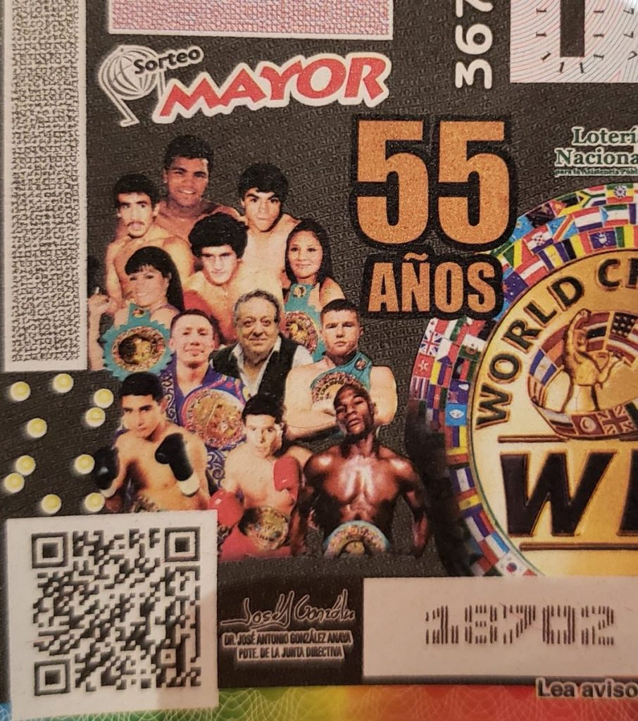 Mexico´s National Lottery Ticketing The 55th Anniversary