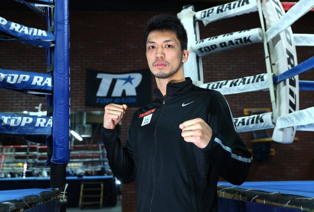 Ryota Murata defends against Rob Brant on Saturday on ESPN+