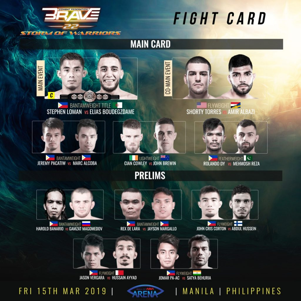 Brave 22 - Fight Card