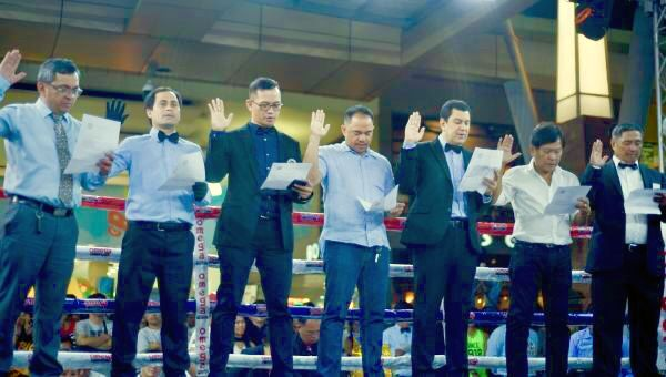 Boxing Ring Officials of Central Visayas during Oath Taking Ceremony in Mandaue