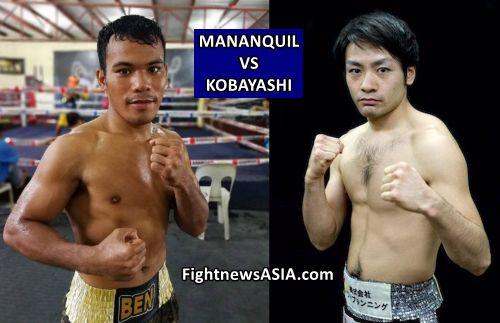 Mananquil vs Kobayashi for WBO Asia Pacific Belt in Osaka Japan