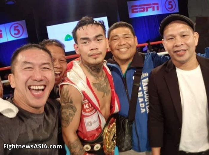 Dave Penalosa the Evening he Claimed the WBO Oriental Featherweight Belt FightnewsASIA