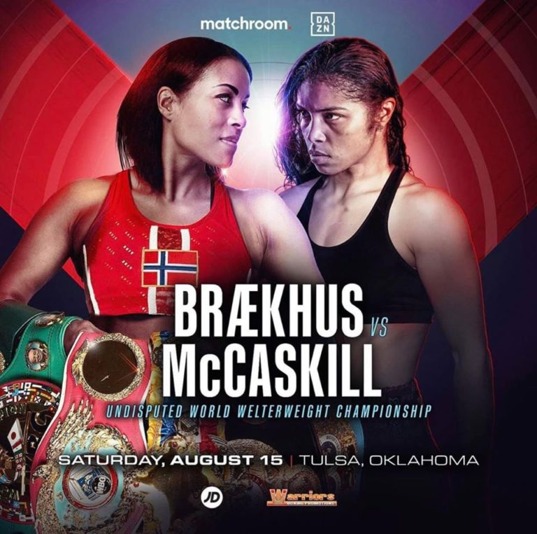 Undisputed WBO Welterweight Clash Cecilia Brækhus Vs. Jessica McCaskill On August 15