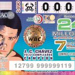 Mexican National Lottery Julio César Chávez Birthday issue