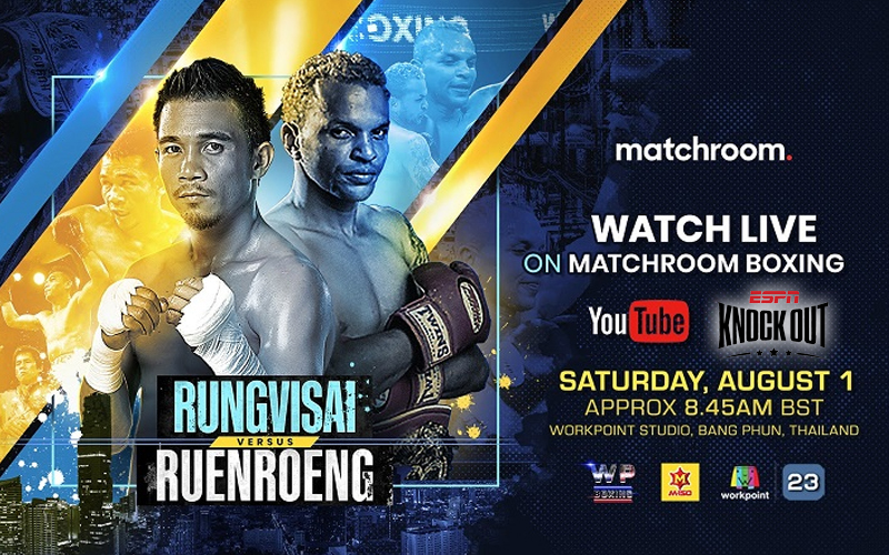 Sor Rungvisai vs. Ruenroeng will air on YouTube Matchroom Boxing and ESPN