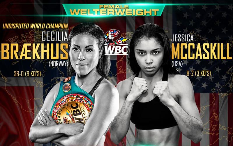 Braekhus and McCaskill will clash next Saturday