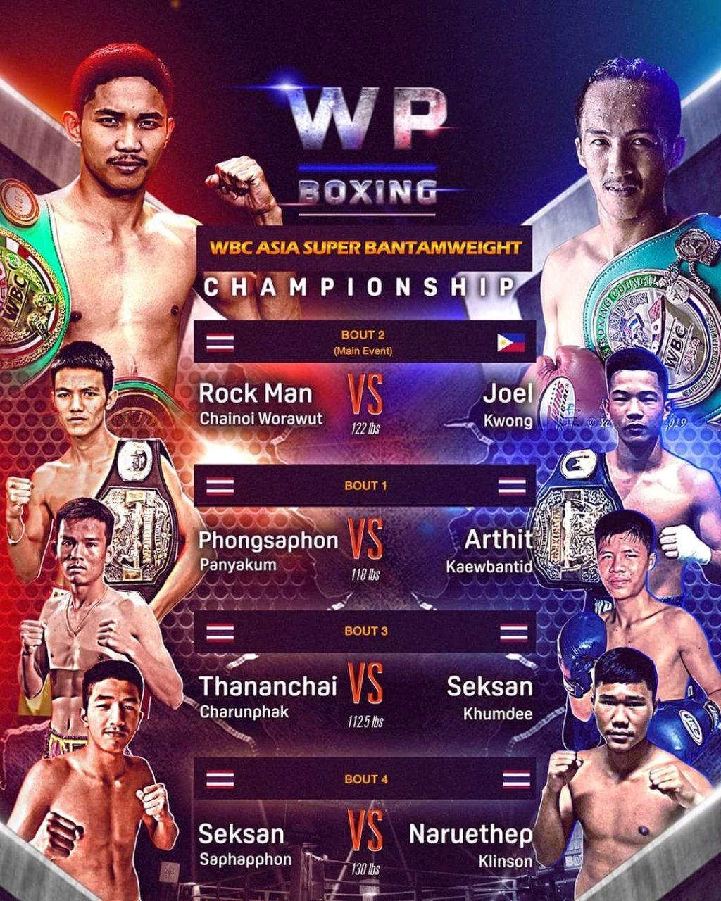 """ROCK MAN"" Chainoi Worawut faces Filipino Foe, Joel Kwong, on Saturday in Thailand"