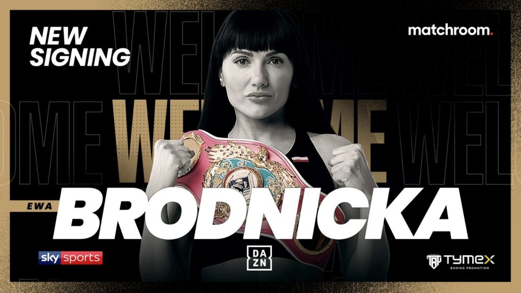Undefeated WBO Junior Lightweight World Champion Ewa Brodnicka Has Signed With Matchroom Boxing