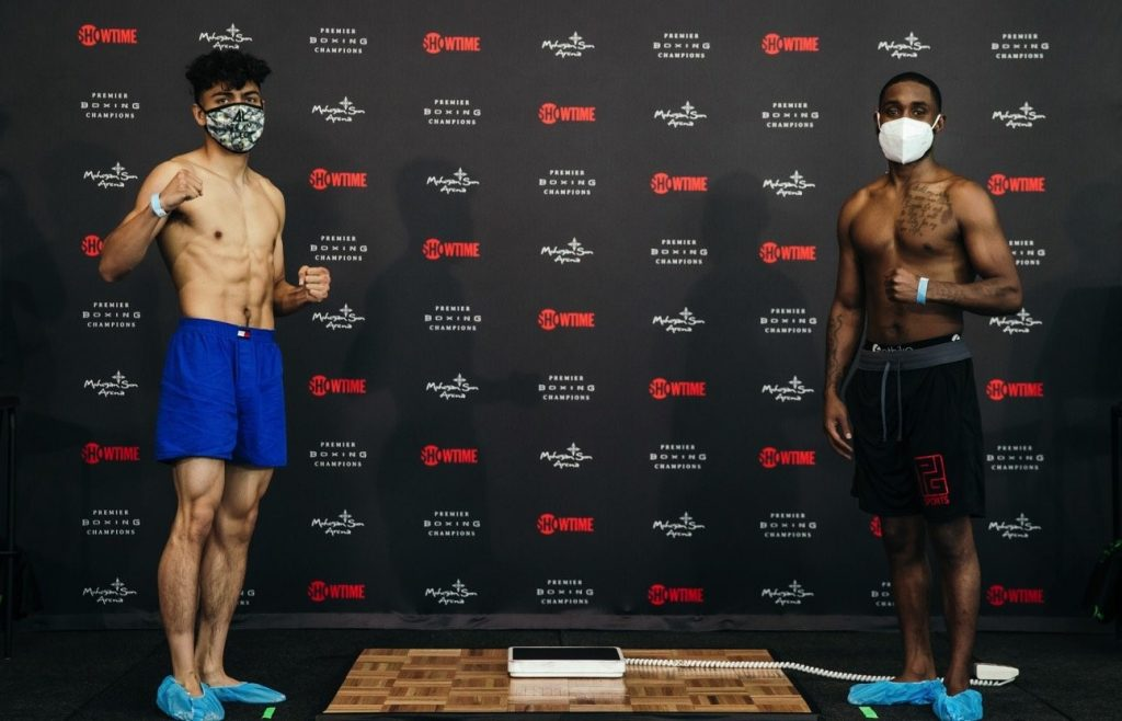 Weigh-In WBO Junior Featherweight World Championship Angelo Leo Vs. Tramaine Williams