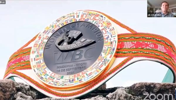 "Legendary Boxer Julio César Chávez will receive ""WBC Otomí Belt"""