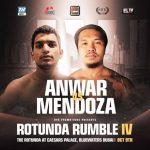 Mendoza to fight Anwar in Dubai on Oct. 9