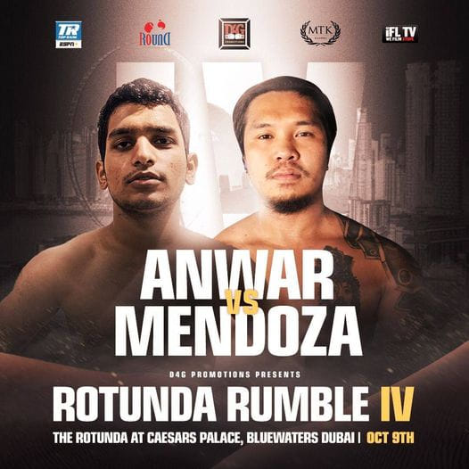 Mendoza to fight Anwar in Dubai on Oct. 9