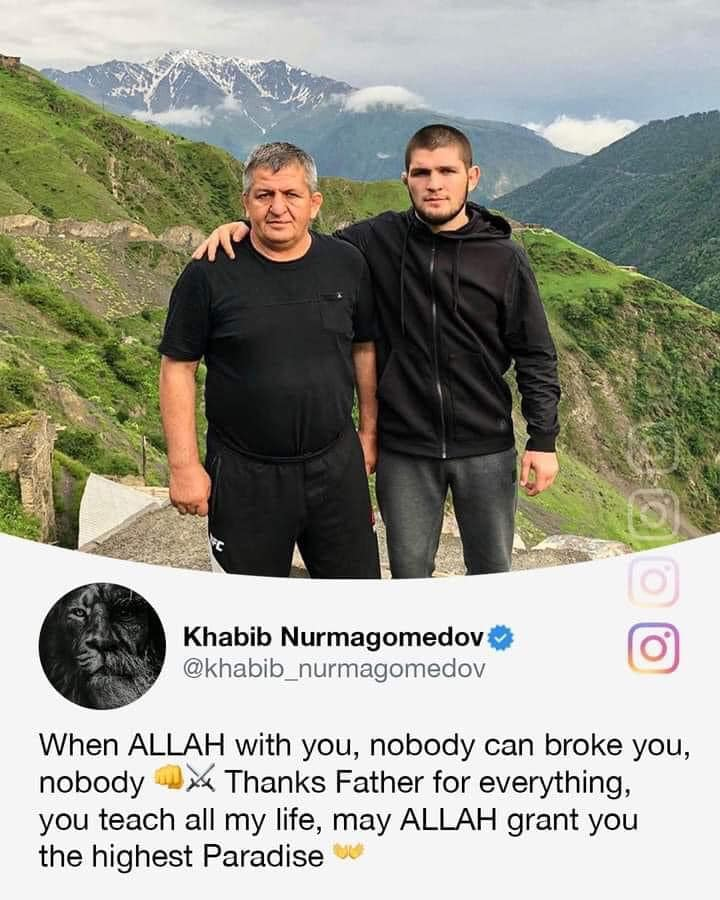 Khabib Remembers His Father, Honors Him with Awesome Win