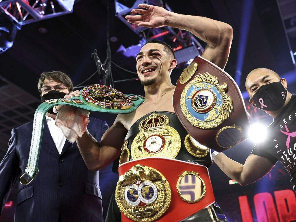 More Aggressive Teofimo Lopez Shocks Loma, Claims All 4 Lightweight Belts