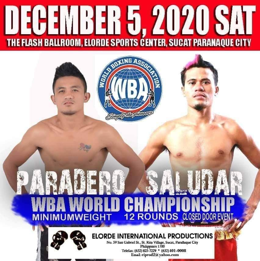 Saludar to fight undefeated Paradero