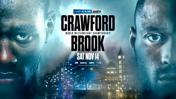 Terence Crawford vs Kell Brook Set for Nov 14