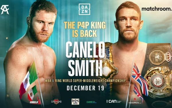 Confirmed: Canelo vs Smith for WBA Super Middleweight World Title Dec 19