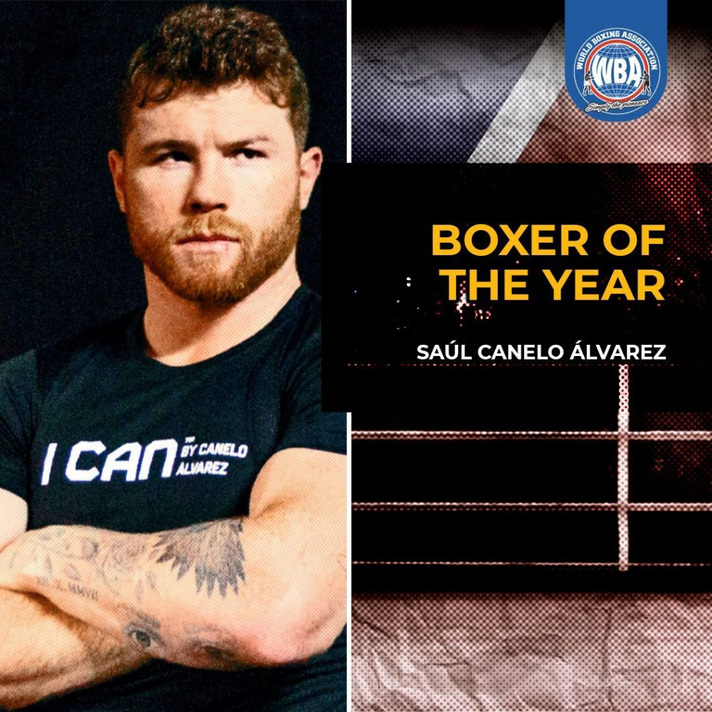 WBA awards Canelo as Boxer of the Year