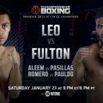 WBO Jr Featherweight champion Angelo Leo Battles Stephen Fulton Jr.