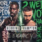 WBO Jr Lightweight Title Jamel Herring vs. Carl Frampton on Feb.27 in London.