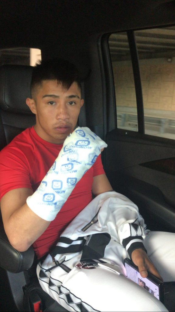 Julio Cesar Martinez out of title defense with injured hand