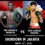 Monabesa and Landero for the vacant WBC International Lightweight Title