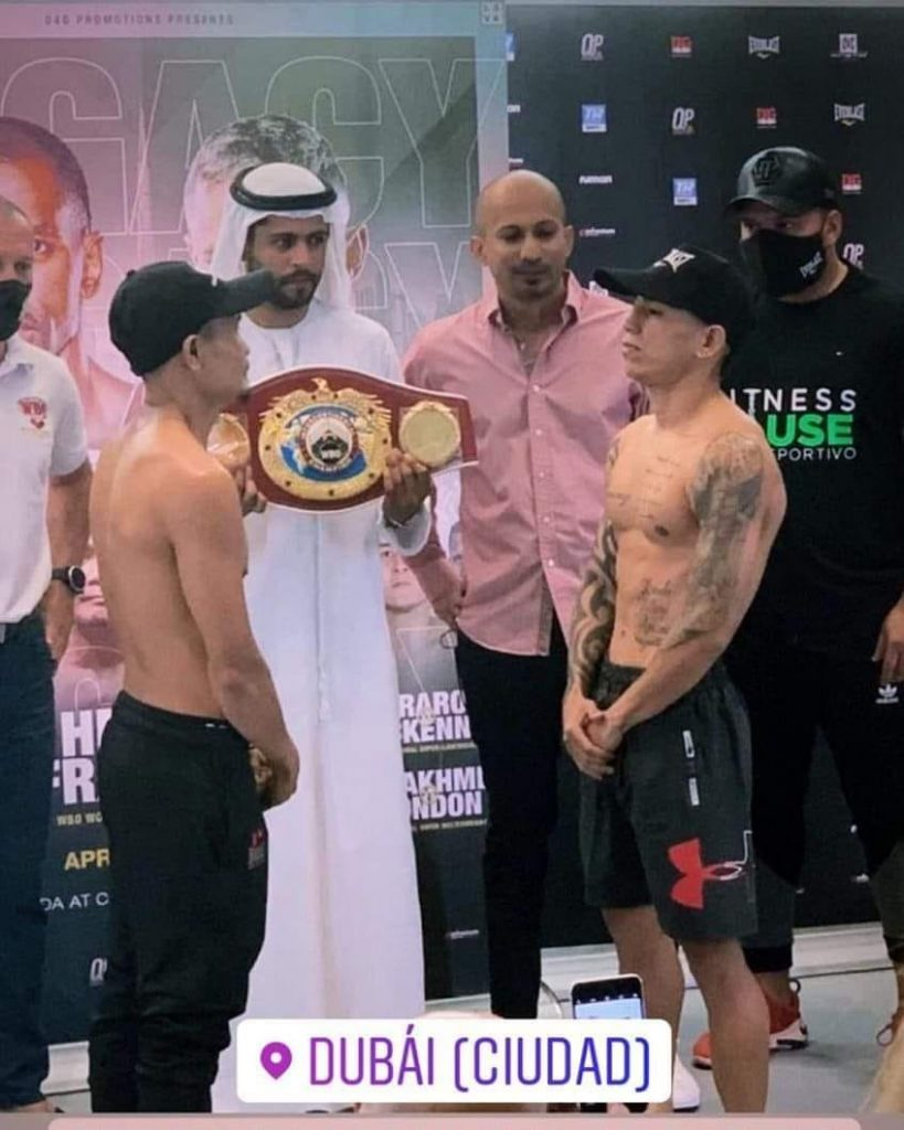 NIETES VS CARRILLO official weigh-in
