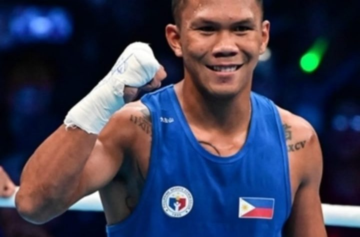 PH MARCIAL CRUSHES FOE AT THE TOKYO OLYMPICS QUARTERFINAL BOUT